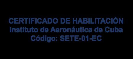 Certificado Aeronautica CUBA